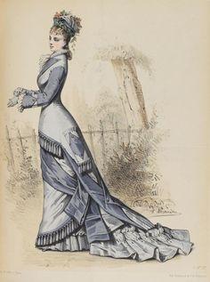Le Moniteur de la Mode 1876 1870s Fashion, Edwardian Fashion, Vintage Fashion, Historical Costume, Historical Clothing, Historical Dress, Jean Délavé, 19th Century Fashion, Antique Clothing