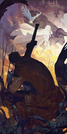 Tags: DigitalART Manga Fanart Anime Berserk Guts Gattsu Gatsu Griffith Hawk of Darkness White Hawk Band of the Hawk Neo Apostle Nosferatu Zodd Zoddo Immortal