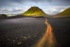 Laugavegur - A reworking of one of my favourite images taken in Iceland last year along the Laugavegur hike between Landmannalaugar and Thorsmork. This was a short way before reaching Lake Alftavatn.