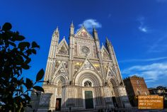 The Beautiful 14th-century Orvieto Cathedral in Umbria Italy