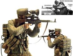 The Sturmgewehr 44 was the first ever assault rifle, similar to the modern M-16 and AK-47. The ZG 1229, also known by the code name Vampir, was an infra-red sight designed so that this rifle could be used by snipers at night. It was first used in combat in the last months of the war and weighed about five pounds, but was also connected to a thirty pound battery support pack, strapped to the soldier's back.