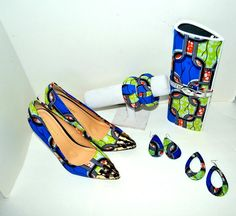 Pointed toes luxury African Print Shoes And Bag set Product Description - Featured African Ankara print - Featured heel height: 4.5 heels. (Super comfortable shoes) - Featured shoe style: pointed toes