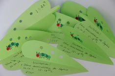 Very hungry caterpillar party! | Zwergenzwirn Check out the invites, games, goodie bags, and puppet show!