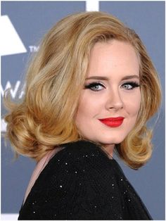 """Pin for Later: 25 Adele Facts We Bet You Don't Know She identifies as a feminist. Adele told Rolling Stone in """"I'm a feminist. I believe that everyone should be treated the same, including race and sexuality. Round Face Haircuts, Hairstyles For Round Faces, Cool Haircuts, Celebrity Hairstyles, Bob Hairstyles, Wedding Hairstyles, Adele Hairstyles, Hollywood Hairstyles, Hairstyle Images"""