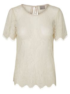 Lace t-shirt with a cute back from VERO MODA