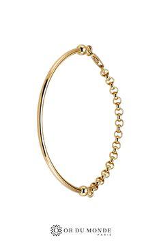 cercle anneau fin Xl Réglable en plaqué Or Réf Ginet Bracelet rond