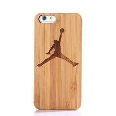 Handmade Retro PC B UmperHot Gift Basketball Cap Air Jordan Retro Fundas Wood Bamboo Cover Case For Apple Iphone 5 5S SE 7 Plus