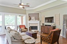 Corner Fireplace? This is a great arrangement! More