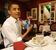Obama hitting a bong, ah ah ah ah :D