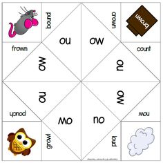 Using phonics games to help teach reading and spelling is a great way to engage your students. Here are some phonics board games and cootie catchers | Top Notch Teaching