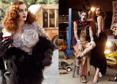 The Greatest Show On Earth.circus themedApril 2007.Karen Elsonby Steven Meisel. VOGUE