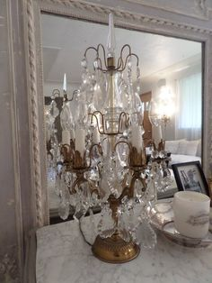 Stunning Huge Antique French Gilt Prisms by thequeensstuff on Etsy
