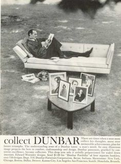 Dunbar Furniture Fashion Couch Sofa Table (1961)
