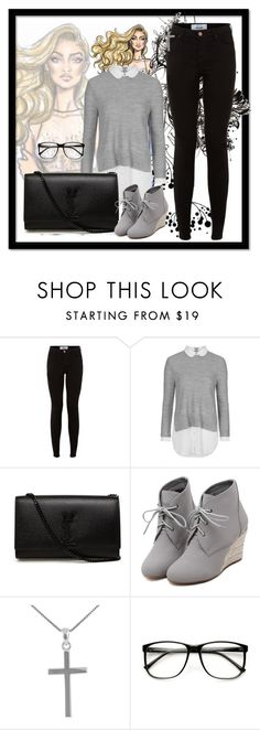 """Outfit"" by charlese-b on Polyvore featuring Topshop, Yves Saint Laurent, WithChic, Jewel Exclusive, women's clothing, women, female, woman, misses and juniors"