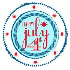 """""""Happy July 4th"""" Free Printable from Blissful Roots"""