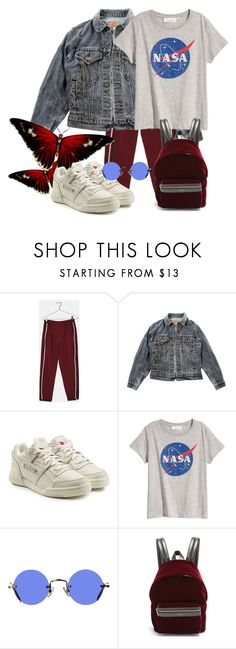 """""""Butterfly effect"""" by jessicajasr on Polyvore featuring Bershka, Levi's, Reebok, Hakusan and Yves Saint Laurent"""