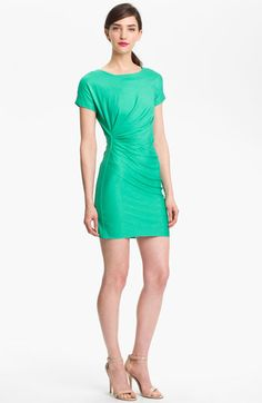 Diane von Furstenberg Stretch Sheath Dress available at Nordstrom fits beautifully! #dvf bright peacock