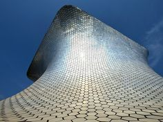 Museo Soumaya, designed by Mexican architect Fernando Romero (with consultation by Frank Gehry), consists of two buildings in Mexico City's Polanco neighborhood. Both museums are striking, but it's the one at Plaza Carso that truly stands out. The asymmetric building is covered in more than 16,000 aluminum hexagons, which shimmer from every angle. The translucent roof allows the bright sunlight to be gently filtered (and therefore perfect for your photos). —C.M.