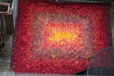 Fire Quilt ~ blooming 9 patch... Though red isn't my favorite color I love the way this looks!