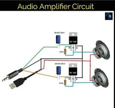 Diy Electronics, Electronics Projects, Diy Amplifier, Led Projects, Car Audio Systems, Smart Home, Sd Card, Arduino, Speakers