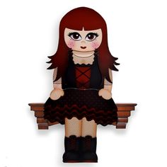 3D On the Shelf Card Kit - Little Goth Anastasia - Photo by Clear Cut Crafts 3D…