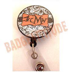Personalized Monogrammed Halloween Badge Reel ID by BadgeAttitude, $8.00