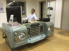 I always enjoy working on Land-Rovers. Original, bespoke, desk