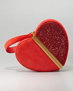 Crystal Heart Box Clutch by Diane von Furstenberg at Bergdorf Goodman.