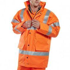 Beeswift Hi-Vis 4 in 1 Traffic Jacket & Bodywarmer Orange