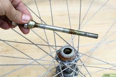 How to Make a Bike Wheel Chandelier: 11 Steps (with Pictures) Bicycle Clock, Bicycle Rims, Bicycle Decor, Old Bicycle, Bicycle Wheel, Bike Wheels, Bicycle Shop, Bicycle Parts, Make A Clock