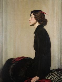 sexsavestheday: More art I love. The artist really captured the contemplation in her expression. psychotic-art: David Jagger (1891 - 1956...