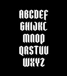 Free blackletter font based on the Demon (UK) and Pentagram (US) logos. Link at the bottom of the case study. Calligraphy Letters Alphabet, Calligraphy Fonts, Typography Letters, Typography Logo, Graphic Design Fonts, Lettering Design, Half Sleeve Tattoo Stencils, Sketch Tattoo Design, Tattoo Lettering Fonts