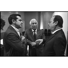 Brussels Belgium 29 apr 2017 President François Hollande in conversation with prime ministers Antonio Costa and Alexis Tsipras #work http://ift.tt/2oYlcrl