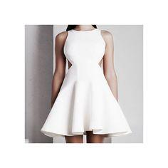 'Calypso' Short Dress - White
