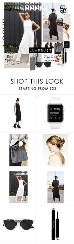 """Jumpsuit Chic - Black and White style"" by aakasha ❤ liked on Polyvore featuring Christian Dior and H&M"