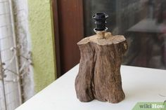 How to Make a Tree Trunk Lamp: 14 Steps (with Pictures) - wikiHow
