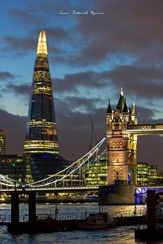 The Shard & Tower Bridge, London, by byrnephotography England And Scotland, England Uk, Beautiful London, Belle Villa, London City, London Bridge, London Skyline, London Calling, London Travel