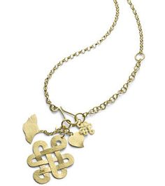 DvF love knot necklace