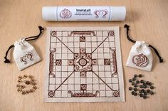 Hnefatafl: King's Table -- An old Viking board game - predecessor to Nine Man's Morris Wooden Board Games, Old Board Games, Old Games, Games For Kids, Games To Play, Game Boards, Medieval Games, Vikings Game, Two Player Games