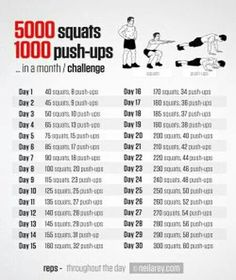5000 Squats & 1000 Push - ups In a Month Challenge