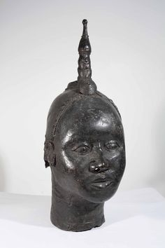 Grande tête de reine africaine Ifé en bronze www.Arts-Ethniques.com Ebay http://stores.ebay.fr/eopieri