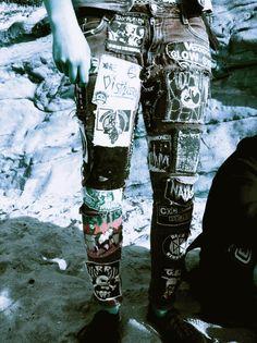 . #patches #punk #pants