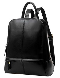 3b262ac546be2 Coofit Damen Leder Rucksack Handtaschen Damen Tagesrucksäcke  Mädchengymnasium Vintage Reisetasche (Large