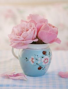 pink and blue too lovely for words! ~~Pink for the cure ~~ Colorful Bouquet Gorgeous Rose Pretty Pastel, Pretty Flowers, Pink Flowers, Shabby Flowers, Romantic Flowers, Beautiful Roses, Beautiful Gardens, Rose Arbor, Decoration Bedroom