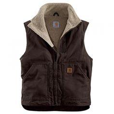 Carhartt Men's Mock-Neck Vest - Dark Brown