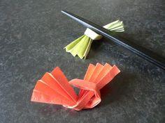 """折り紙 箸置きの折り方 How to Origami """"Chopstick rest"""""""