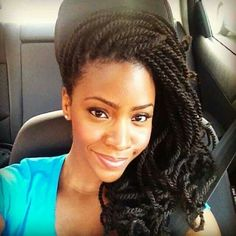 Embrace your afro-textured hair and take better care of it too with these protective kinky twists hairstyles for all lengths, cuts, and color tehcniques! Box Braids Hairstyles, My Hairstyle, Protective Hairstyles, African Hairstyles, Cool Hairstyles, Protective Styles, Crochet Twist Hairstyles, Curly Haircuts, Crochet Braids