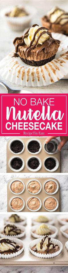 No Bake Nutella Chee