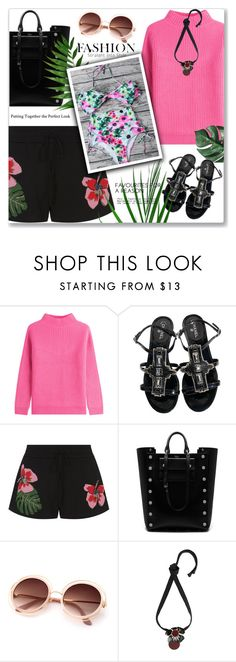 """""""In bloom: dark florals"""" by jan31 ❤ liked on Polyvore featuring Diane Von Furstenberg, Chanel, Valentino, Mulberry, Marni, floral, shorts, swimwear, sweaters and darkflorals"""