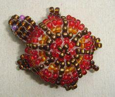 Cruzecitas: tortuga hecha con abalorios